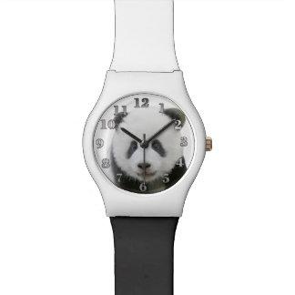 Panda-Gesicht Uhr