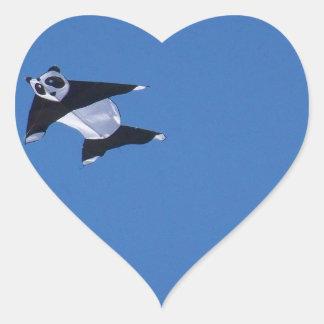 PANDA Herz-Aufkleber