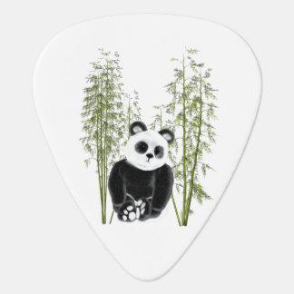 Panda im Bambus Plektron