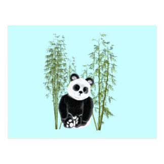Panda im Bambus Postkarte