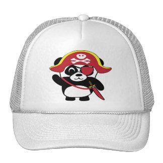 Panda im roten Piraten-Kostüm Cap