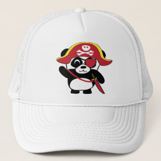 Panda im roten Piraten-Kostüm Truckerkappe