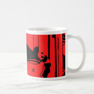 Panda in den Schnüren Kaffeetasse