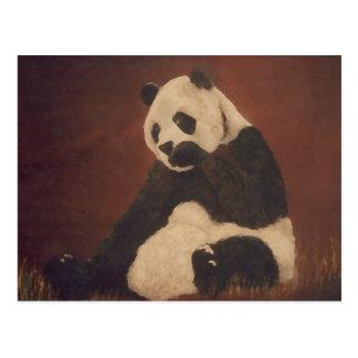 Panda kicherndes CricketDiane Designer-Material Postkarte