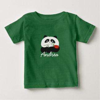 Panda-Liebe-Cartoon-niedlicher romantischer Baby T-shirt