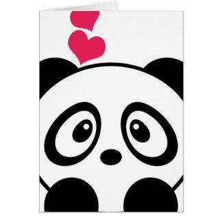 Panda-Liebe-Grußkarte Karte