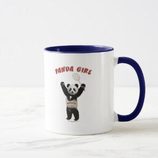 Panda-Mädchen-Badminton Tasse