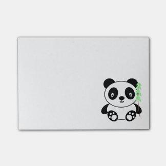 Panda mit Bambus Post-it Klebezettel