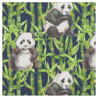 Panda mit BambusAquarell-Muster Stoff