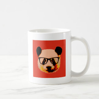 Panda mit Gläsern im Rot Kaffeetasse