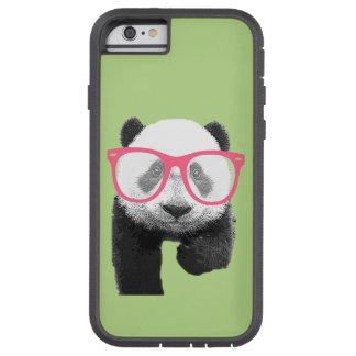 Panda mit rosa Glas-niedlichem lustigem Tough Xtreme iPhone 6 Hülle