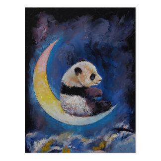Panda-Mond Postkarte
