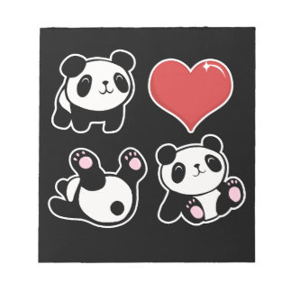 Panda Notizblock