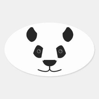 Panda Ovaler Aufkleber