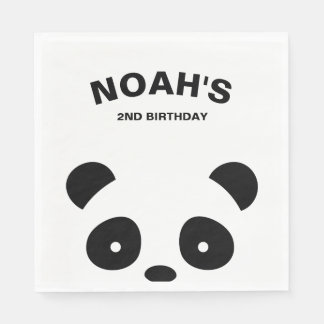 Panda-Papierservietten, Panda-Geburtstags-Party Papierservietten