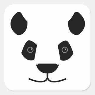 Panda Quadratischer Aufkleber