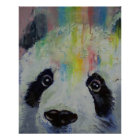 Panda-Regenbogen-Druck Poster