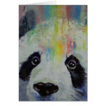 Panda-Regenbogen-Karte Grußkarte
