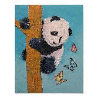 Panda-Schmetterlinge 10,8 X 14 Cm Einladungskarte