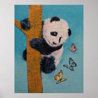 Panda-Schmetterlinge Poster