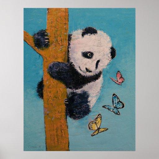 Panda-Schmetterlinge Plakate