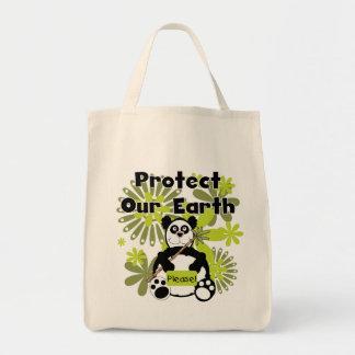 Panda schützen unsere Erdt-shirts und -geschenke Leinentasche