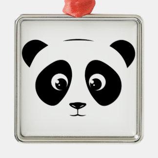 PANDA SILBERNES ORNAMENT