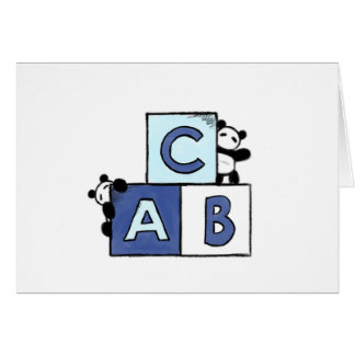 Panda-Spielzeug-Welt - blaue ABC-Blöcke Karte