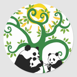 Panda-Stammbaum Runder Aufkleber
