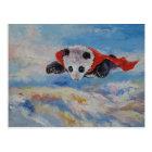 Panda-Superheld Postkarte