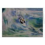 Panda-Surfer Grußkarte