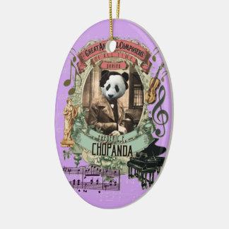 Panda-Tierkomponist Chopin Frederic Chopanda Keramik Ornament