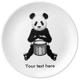 Panda-Trommeln Porzellanteller