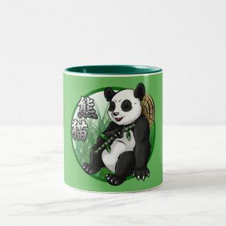 Panda u. Bambus 11 Unze Zwei-Ton Tasse