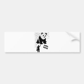 Panda-Uhr Autoaufkleber
