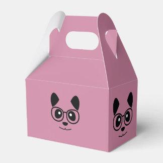 Panda und Gläser Geschenkschachtel