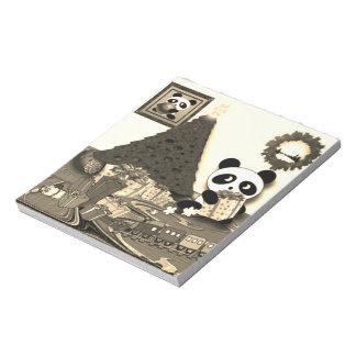 Panda-Weihnachten Notizblock