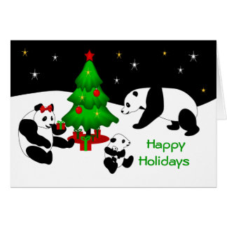 Panda-Weihnachtsgruß-Karte Karte