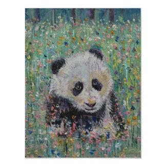 Panda-Wildblumen 10,8 X 14 Cm Einladungskarte