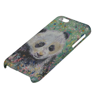 Panda-Wildblumen iPhone 5C Schale