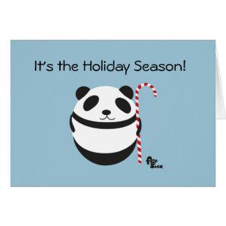 Panda-Zuckerstange-Feiertags-Karte Grußkarte