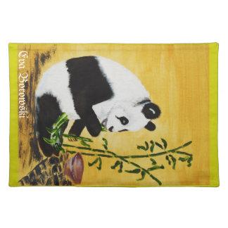 """""""Pandabär""""Bild von Eva Borowski Tischset"""