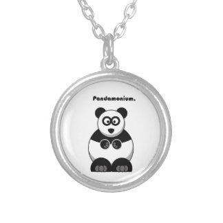 Pandamonium Panda-Cartoon Versilberte Kette