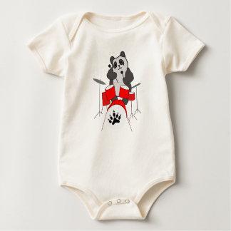 Pandamusiker Baby Strampler