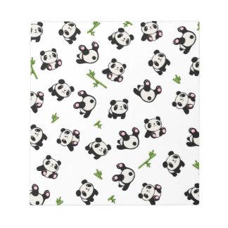 Pandamuster Notizblock