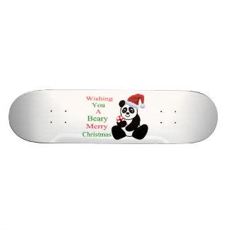 Pandas Beary frohe Weihnachten 19,7 Cm Skateboard Deck