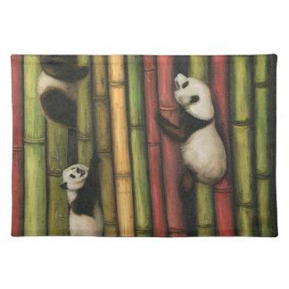 Pandas, die Bambus klettern Tischset