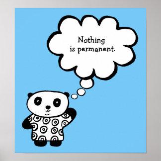 Pandy das Panda-buddhistische dauerhafte Zitat Poster