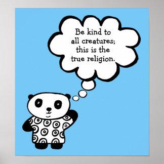 Pandy der Panda-Buddhist ist nettes Zitat Poster