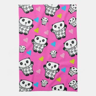 Pandy die Panda-hellen Herzen Küchentuch
